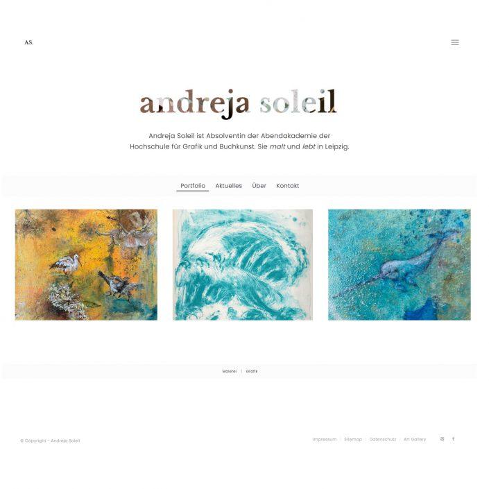 Portfolio Website Andreja Soleil Künstlerin