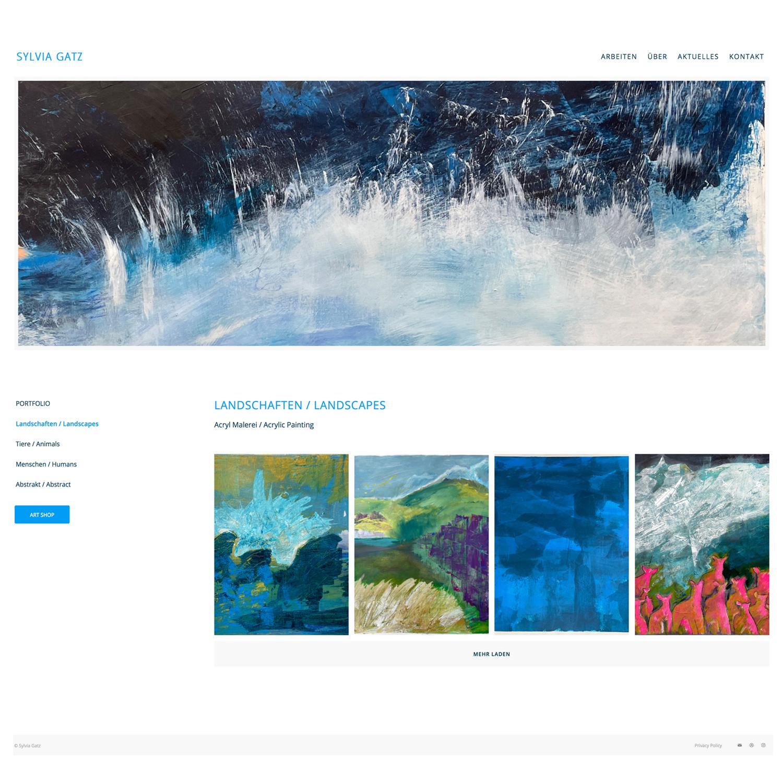 Portfolio Website Sylvia Gatz Malerin